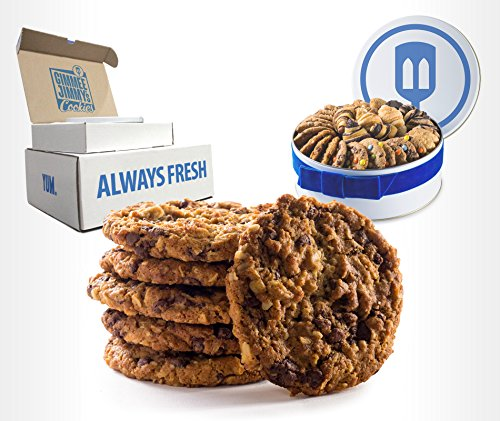Fresh Baked Chocolate Chip Oatmeal Cookies | Gimmee Jimmy's Cookie Gift Tin| 2 Pound