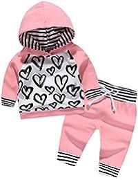 Newborn Baby Girls Boy Clothes Hoodies Outfits Long Sleeve Sweatshirt Tops Babies Pants Set