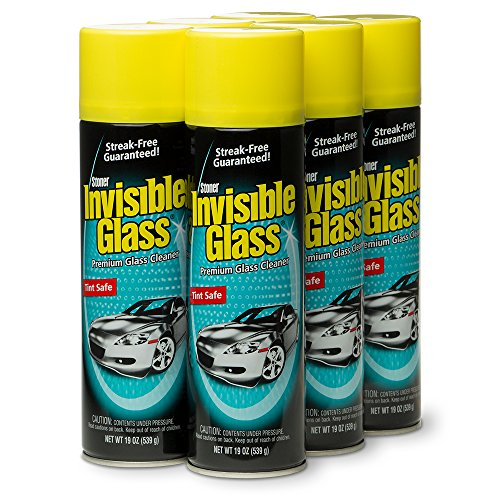 (Invisible Glass 91166-6PK Premium Glass Cleaner, 114 fl. oz, 6 Pack)
