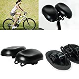 ZJchao Dual-pad Dual-Seat Cushion No-nose Hornless Bike Saddle Comfortable PU Sports MTB Bike Road Cycling Bicycle Cushion Seat with Adjustable Seat Width