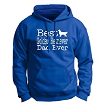 Dog Lover Gift Best Golden Retriever Dad Ever Premium Hoodie Sweatshirt Large Royal