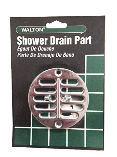 TBC TOOLS WT3SS Shower Drain Cover, Stainless Steel Screen for Tub & Shower Drain, 3-1/2' Drain (4-3/8' Frame Fits 3-1/2' Drain), Two Screws Included