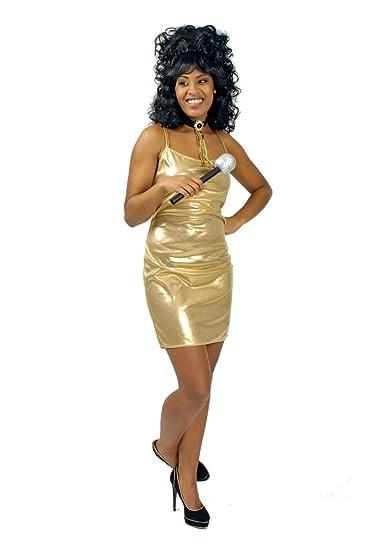 Sexy Disco Kleid Gold Gr. 36 38: Amazon.de: Spielzeug