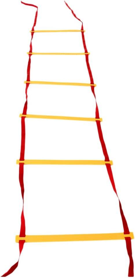 Toygogo 6/12/20 Escalera De Agilidad para Fútbol Fútbol Fitness Pies Velocidad Entrenamiento + Bolsa - Rojo Amarillo, 6-peldaño, 3 Metros: Amazon.es: Deportes y aire libre