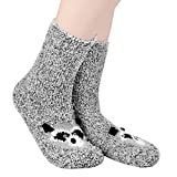Cartoon Warm Slipper Socks with Grippers Winter Womens Slipper Socks Cable Sleep Floor Socks