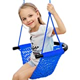 Kids Swing, Swing Seat for Kids with Adjustable Ropes, Hand-kitting Rope Swing Seat Great for Tree, Indoor, Playground…