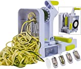 Brieftons QuickFold 5-Blade Spiralizer: 2018 Model, Versatile Review and Comparison
