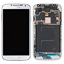 Original Samsung Galaxy S4 IV LCD Display & Touch Screen Digitizer Assembly WHITE (With Frame) Compatible with following GSM Models ONLY - AT&T I337 - TMobile M919