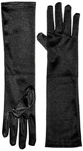 [Marvoll Lycra Spandex Elbow Length Gloves (One Size, Black)] (Dance Second Hand Costumes)