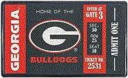 Team Sports America NCAA Recyclable PVC Vinyl Indoor/Outdoor Weather-Resistant Team Logo Door Turf Mat