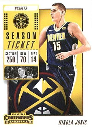 644f79445b03 2018-19 Panini Contenders Season Ticket  26 Nikola Jokic Denver Nuggets  Basketball Card
