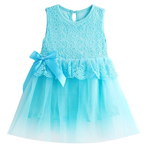 MIOIM Adorable Infant Baby Girls Lace Flower Tutu Tulle Dress Party Princess - Uk Sites Discount Designer