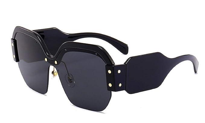 Womens Cut Off Round Half Frame Part Rimless Fashion Sunglasses UV400