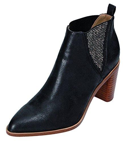 Laufsteg München Hw161004, Zapatillas de Estar por Casa para Mujer negro