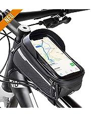 Velmia Handyhalterung - Praktische Rahmentasche für Fahrrad - Wasserdichte Fahrradtasche mit Einer kompakten Größe & 0,85 Liter Stauraum - reflektierender Handyhalter für EIN Maximum an Sicherheit