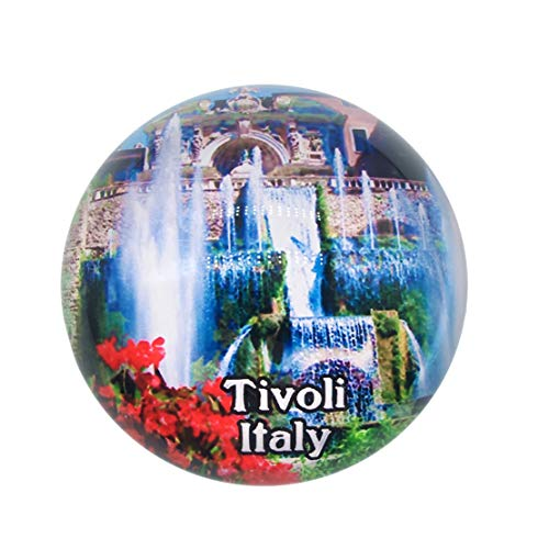 Villa d'Este Tivoli Italy Fridge Magnet 3D Crystal Glass Tourist City Travel Souvenir Collection Gift Strong Refrigerator Sticker