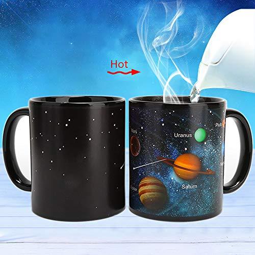 Aibrisk Magic Coffee Mug Solar System - Heat Changing Mug Porcelain Tea Cup Drinking Cup Magic Birthday Gift Business Gifts White Elephant Exchange Gift (Best Gifts For White Elephant Gift Exchange)