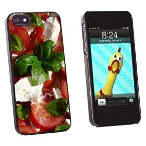 phone covers Graphics and More Tomato Mozzarella Basil Salad - Tomatoes Italian - Snap-On Hard Protective Case for Apple iPhone 5c - Non-Retail Packaging - Black