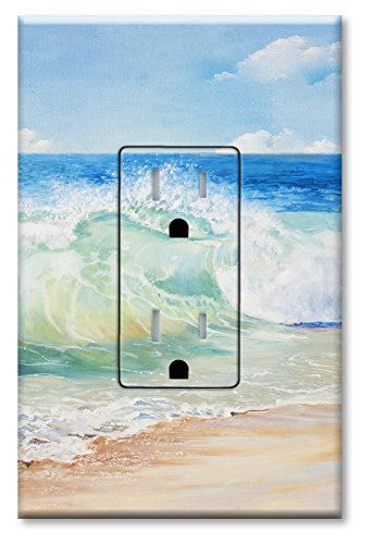 Printed Electrical Outlet with matching Wall Plate - Beach Painting