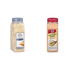 McCormick Culinary Minced Onion, 17 oz & McCormick Granulated Garlic, 26 oz