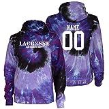 JANT girl Custom Lacrosse Tie Dye Sweatshirt - Lacrosse Play Tough Get Dirty White Logo (Purple Twist, YM)
