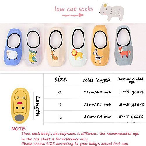 Baby Ankle Socks Anti Slip Low Cut Toddler socks 3 Pairs No Shown Cotton Socks For Boys Girls 1-3Y//3-5Y//5-7Y