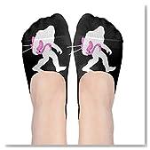 Bigfoot And Lawn Flamingo Women No-Show Casual Liner Socks Low Cut Ankle Socks Boat Socks