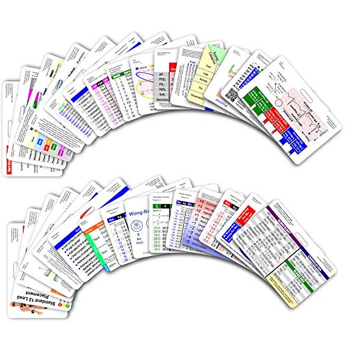 Emt Pocket - Comprehensive Horizontal Badge Card Reference Set - 30 Cards