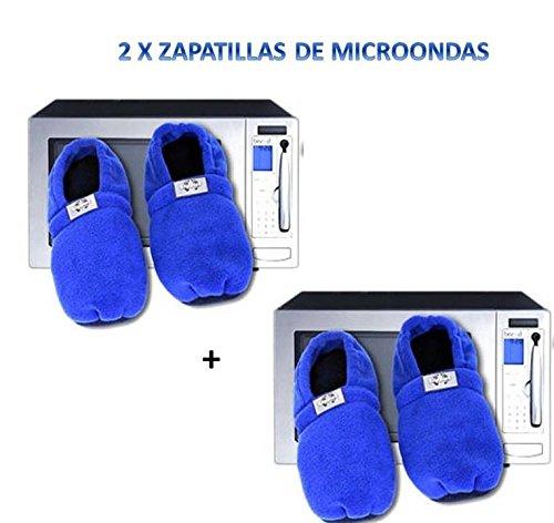 2x Zapatillas para microondas de estar en casa ®: Amazon.es ...