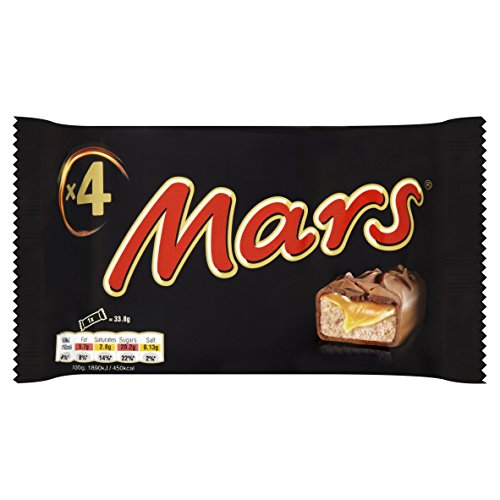 Mars Chocolate Bars Treat Size Small 4 Bars