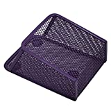 Ozzptuu Magnetic Sturdy Metal Mesh Pencil Holder Storage Basket Organizer for Whiteboard/Refrigerator/Magnetic Surface (Purple)