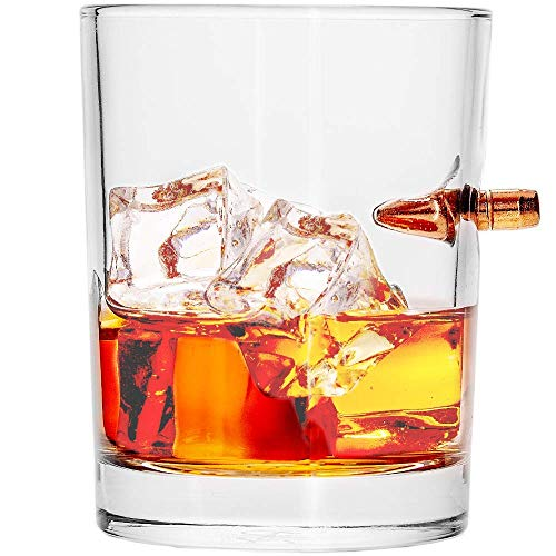 308 Real Bulle Whiskey Glass Hand-Blown Premium Cocktail Scotch Bourbon Old Fashioned Crystal Brandy Vodka Drinking Glasses Good for Party Shot Glasses Rocks Tumbler Drinks Glassware -