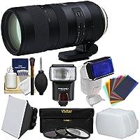 Tamron 70-200mm f/2.8 Di VC USD G2 Zoom Lens + 3 UV/CPL/ND8 Filters + Flash + Soft Box + Diffuser + Gel Filters Kit Nikon Digital SLR Cameras