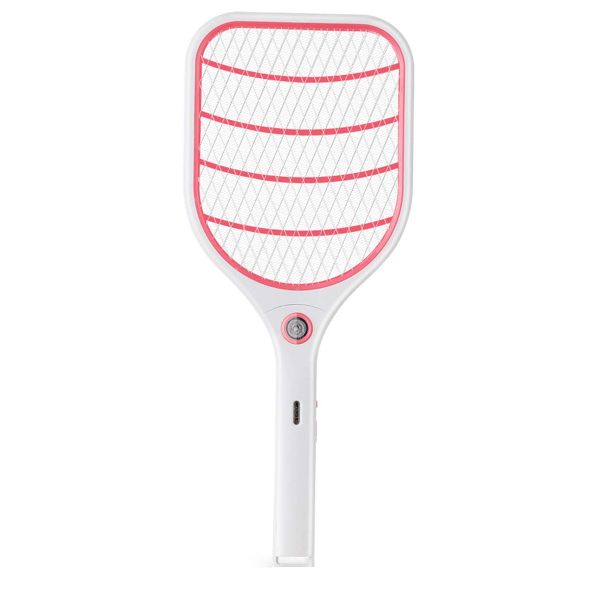Bug Zapper Racket, Electric Fly Swatter, Fly Killer e Mosquito Swatter - USB Ricaricabile - 3000 Volt - Bright LED Light - Unico 3-Layer Safety Mesh Safe (Blu),rosa