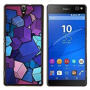 For Sony Xperia C5 Ultra Case , Cubos diseño minimalista- Diseño Patrón Teléfono Caso Cubierta Case Bumper Duro Protección Case Cover Funda