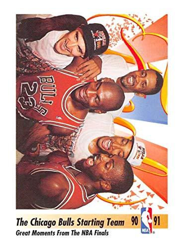 1991-92 SkyBox Basketball #337 John Paxson/Bill Cartwright/Michael Jordan/Scottie Pippen/Horace Grant Chicago Bulls Official NBA Trading Card