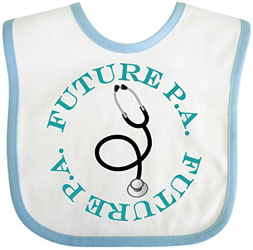 Inktastic - Future Physician Assistant Baby Bib White/Blue 1a5d9