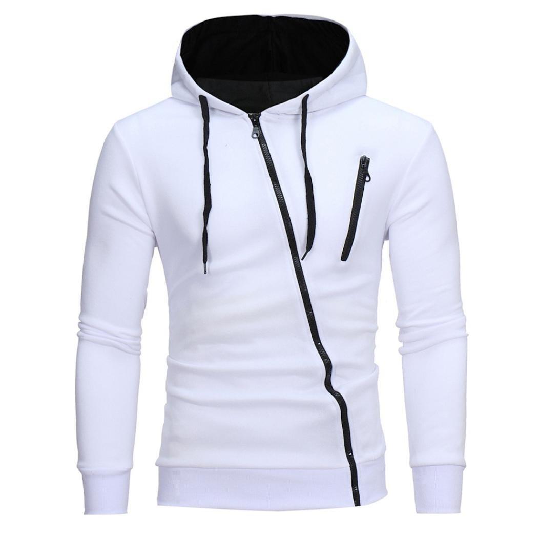 メンズファッションコート、todaiesメンズパッチワークジャケットファッショントレーナージャケットトップスカジュアルコート M ホワイト B076H33DN7 M|ホワイト ホワイト M