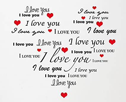 Adesivo Murale Wall Sticker Cuore Frasi Romantiche Amore Regalo