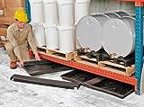 "UltraTech 2370 Polyethylene Rack Containment Single Tray, 8 Gallon Capacity, 44"" Length x 23-1/2"" Width x 2-3/4"" Height, Black"
