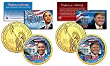 TRUMP & OBAMA U.S Mint Colorized PRESDIENTIAL $1 Dollar Coins + 3rd Coin FREE Reviews