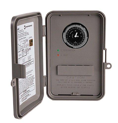 Intermatic DTAV40 120/208/240v Time Initiated, Time Or Remote Temperature Or Pressure Terminated In Nema 3r Outdoor Plastic Enclosure -