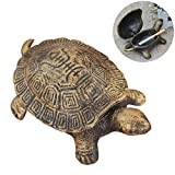 Ozzptuu Cast Iron Turtle Cigar Ashtray Decorative Cigarette Ash Bins Tray for Home or Bar Table Art Decorations