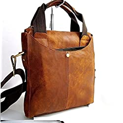 New Genuine Leather Shoulder Satchel Bag Messenger Travel Tour handbag Men