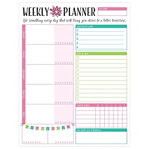 "bloom daily planners Weekly Planning System Tear Off To Do Pad - 8.5"" x 11"" - Bloom"