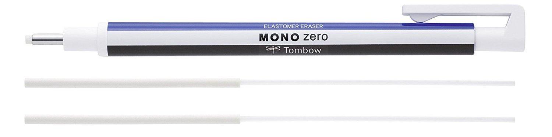 Durchmesser 2.3 mm Tombow EH-KUR11 Pr/äzisionsradierer MONO zero nachf/üllbar runde Spitze schwarz