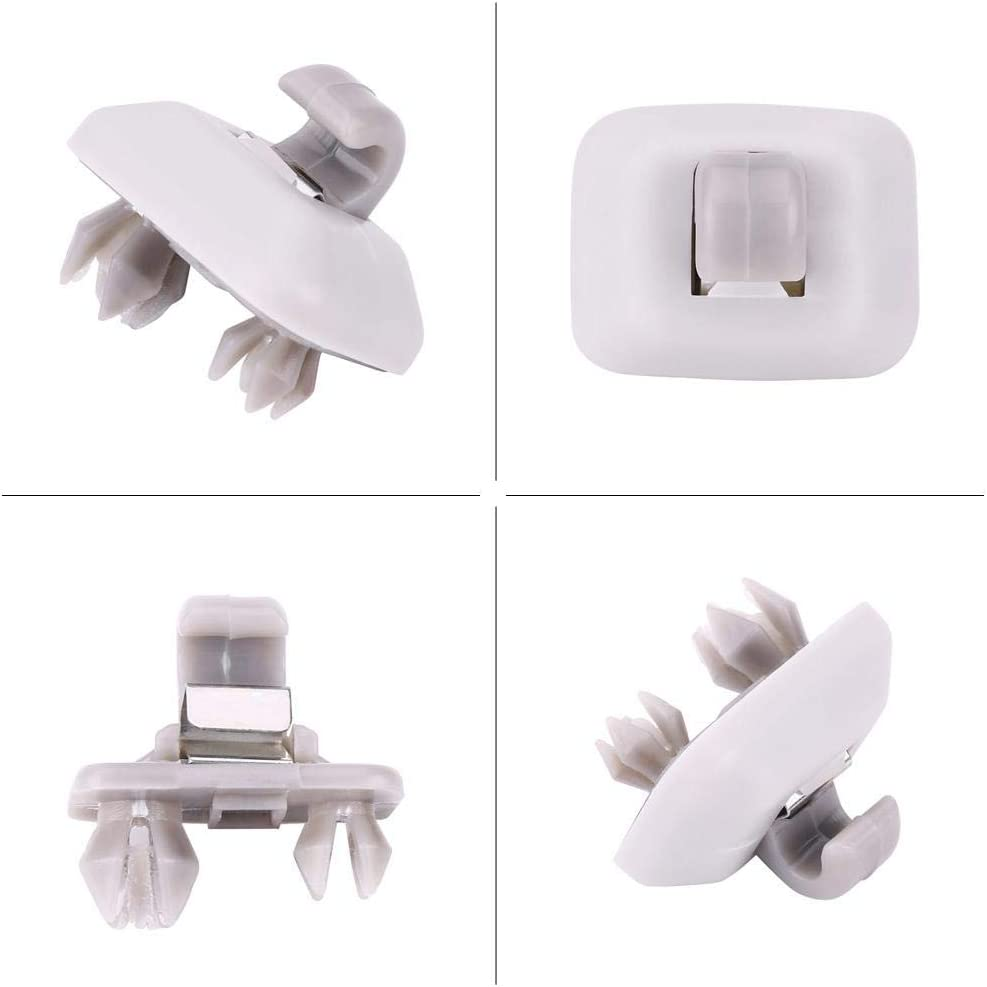 Sun Visor Hook Clip,Interior Silver Sun Visor Hook Clip Bracket Replacement Board Clamp for A1 A3 A4 S4 A5 S5 Q3 Q5 TT OEM 8E0857562A