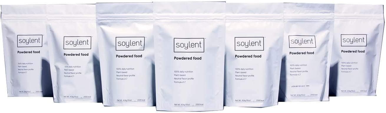 Soylent Nutritionally Complete Meal Replacement Powder, 1 Week Supply, 7 Bags