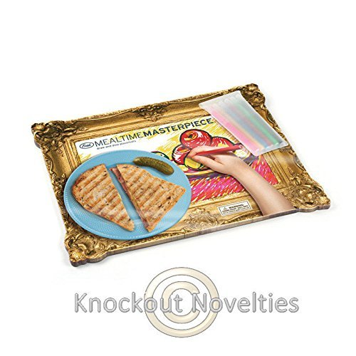 (USA Warehouse) Mealtime Masterpieces Placemats Funny Novelty Dining Accessory Serving Tool -/PT# HF983-1754364573