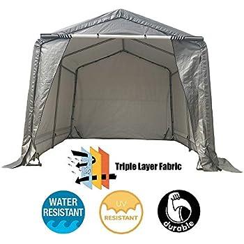 Amazon.com: kdgarden 10x10x8 Feet Portable Shelter Shed ...